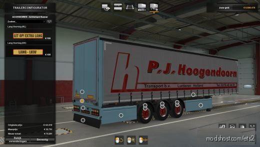 P.j.hoogendoorn VTC Trailer Skin [1.38] And Above for Euro Truck Simulator 2