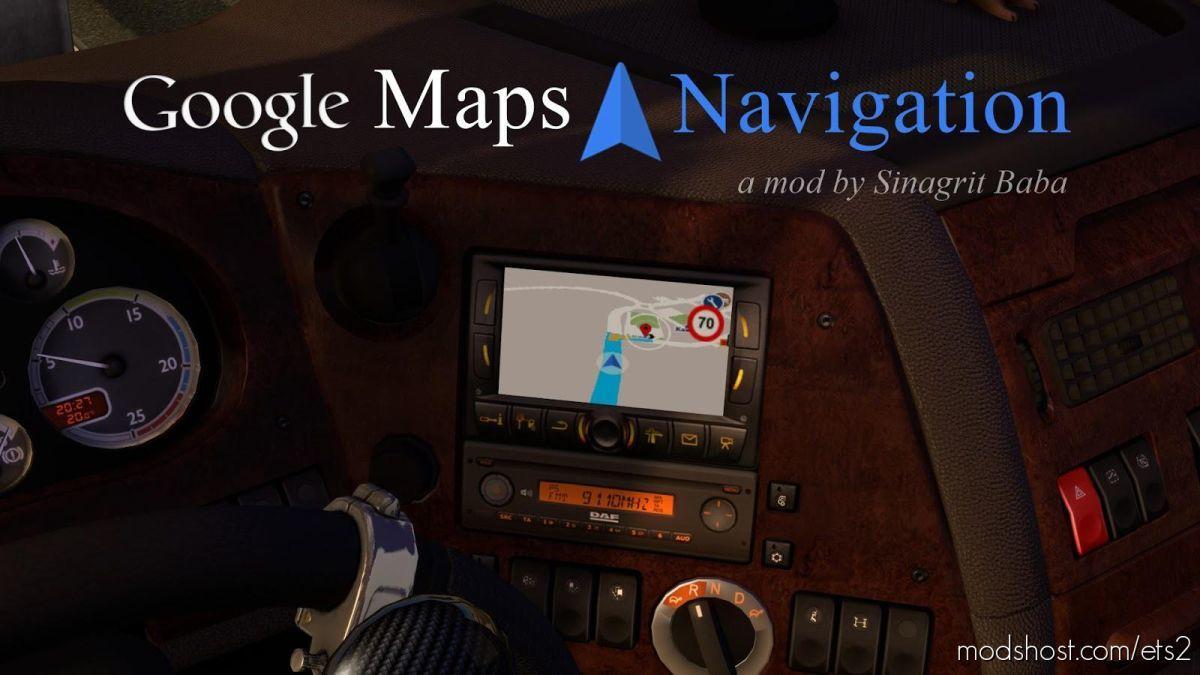Google Maps Navigation V2.2 for Euro Truck Simulator 2