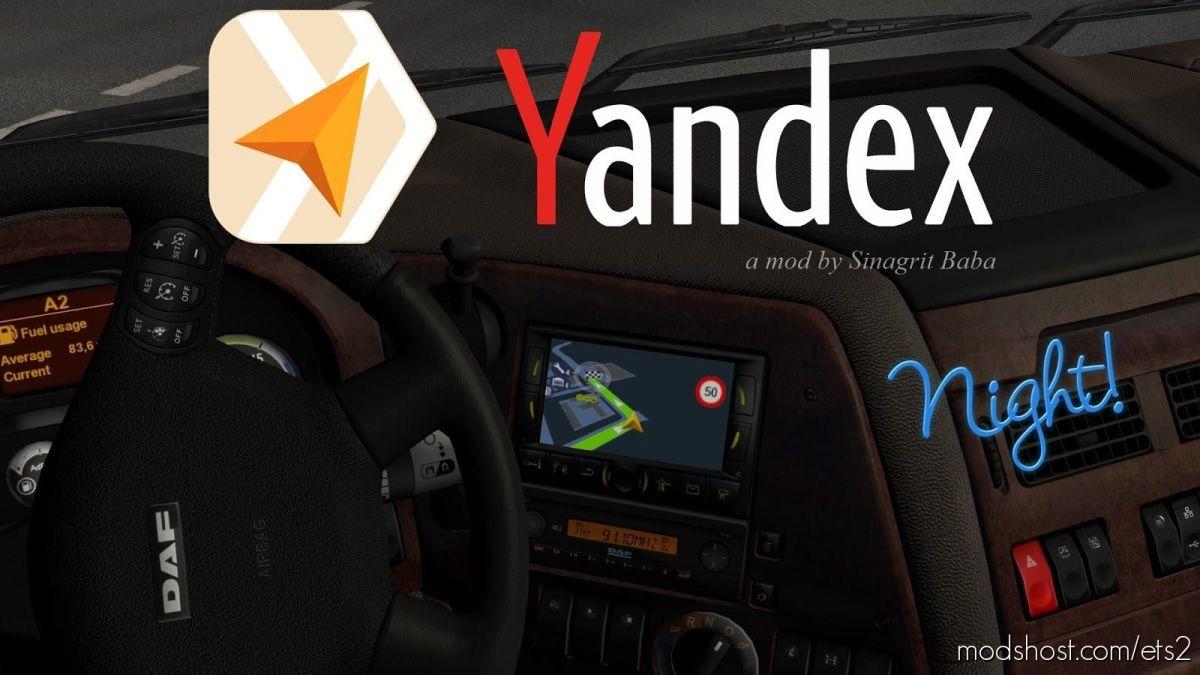 Yandex Navigator Night Version V1.4 for Euro Truck Simulator 2