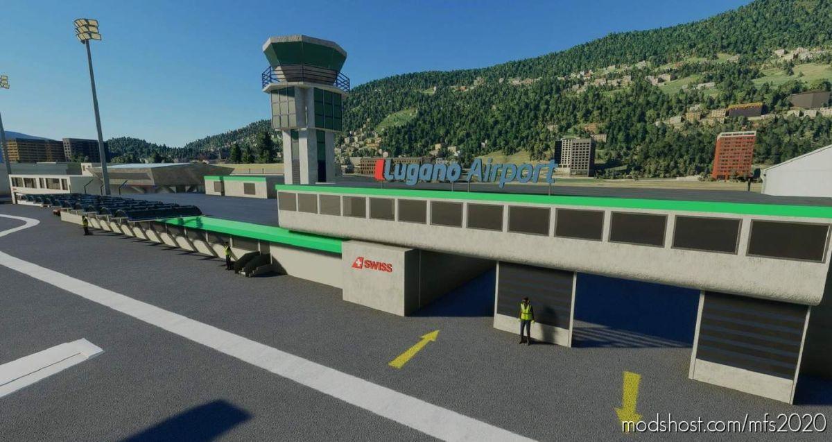 Lugano-Agno (Lsza) Airport – Switzerland – (Tchax95) V0.1 for Microsoft Flight Simulator 2020