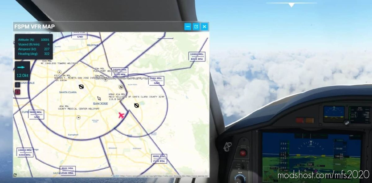 Fspm VFR Map for Microsoft Flight Simulator 2020