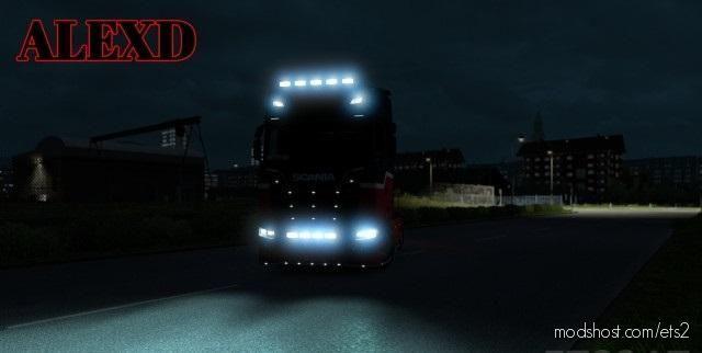 Alexd Flare And 5500 K Lights For ALL Trucks V1.7 for Euro Truck Simulator 2