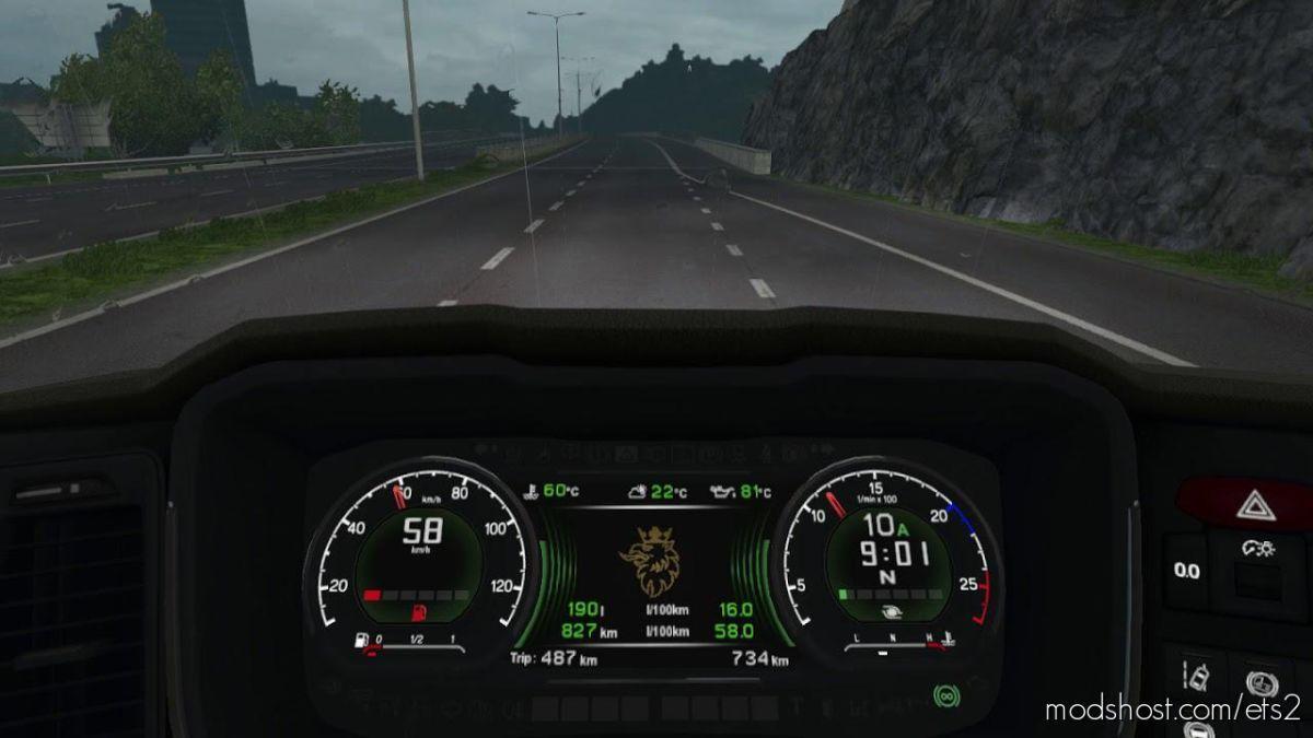 Scania S Custom Dashboard Computer [1.39] for Euro Truck Simulator 2