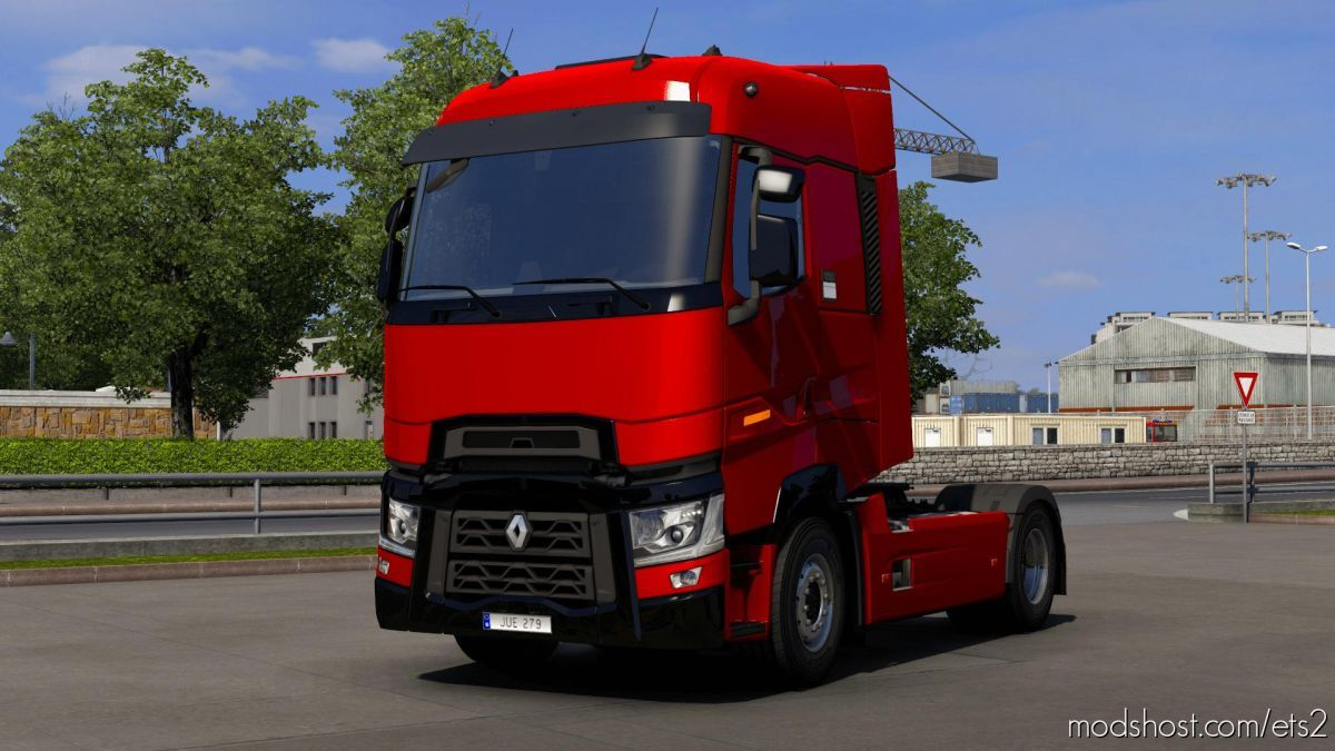 Renault T Piano Black Parts [1.39] for Euro Truck Simulator 2