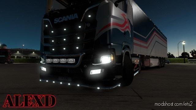 Alexd FOG Light For Scania S & R 2016 V1.5 for Euro Truck Simulator 2
