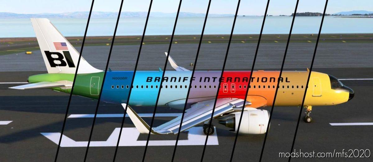 Braniff International Flying Colors Retro 10 Pack [4K Livery] for Microsoft Flight Simulator 2020