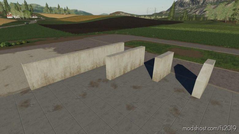 Modular Concrete Walls for Farming Simulator 19