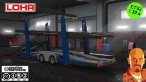 Lohr CAR Transport Trailer [1.38]-1.39.X for Euro Truck Simulator 2