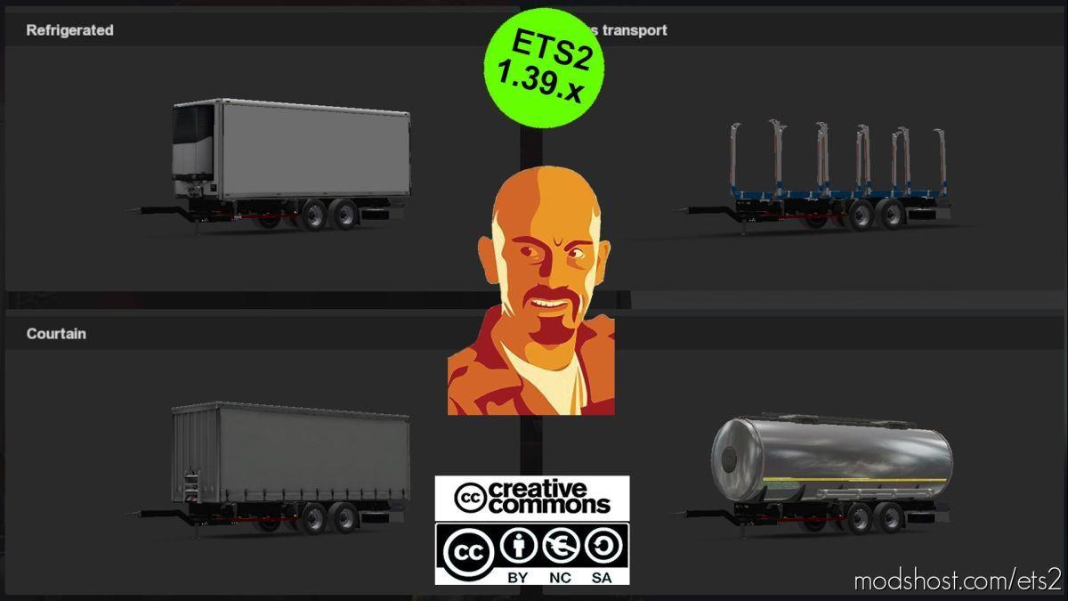BDF Trailers For Scania Megamod [1.38-1.39.X] for Euro Truck Simulator 2