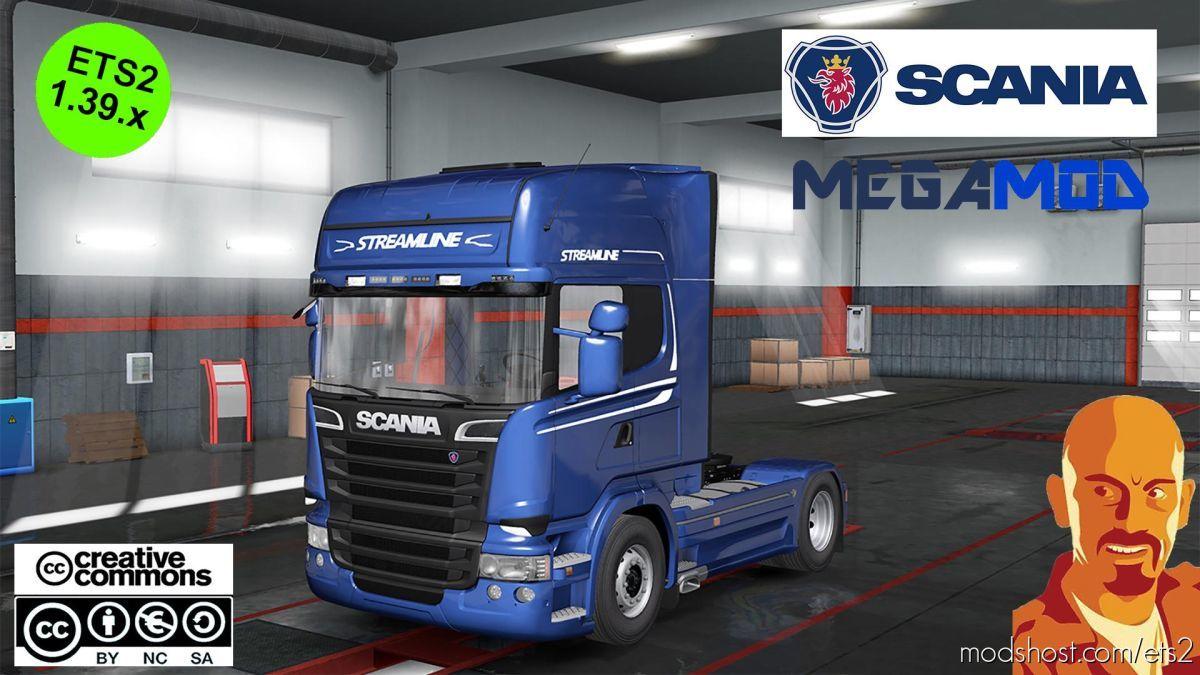 Scania Megamod [1.38]-1.39.X for Euro Truck Simulator 2