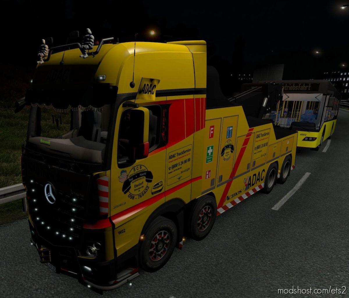 Adac Flag For Crane Truck for Euro Truck Simulator 2