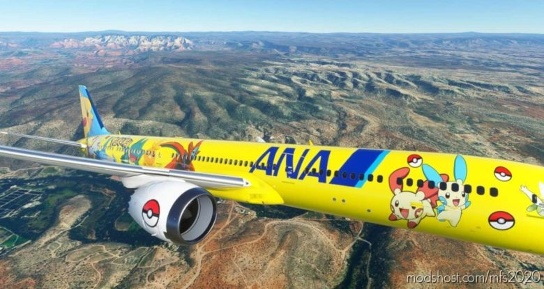 ANA Pokemon 787-10 for Microsoft Flight Simulator 2020