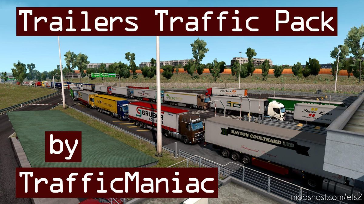 Trailers Traffic Pack By Trafficmaniac V5.5 for Euro Truck Simulator 2