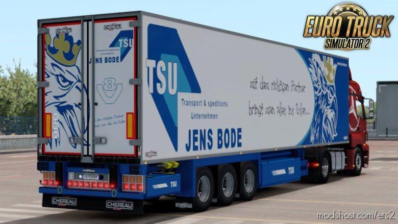 Chereau Trailer Mod [1.39] for Euro Truck Simulator 2