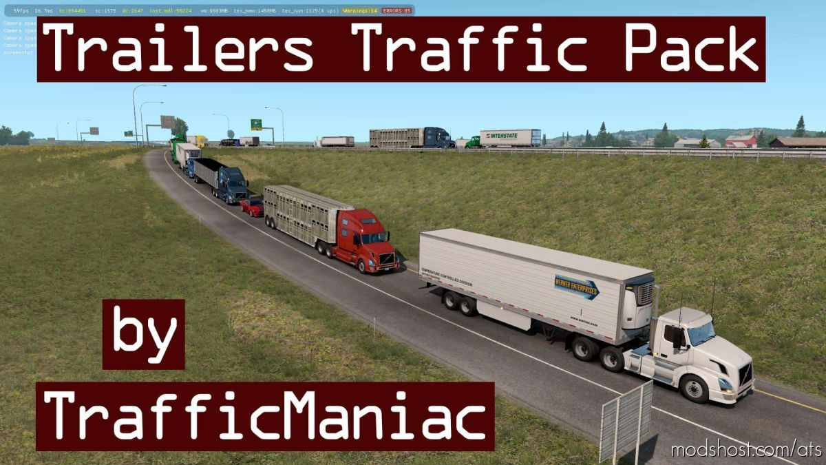 Trailers Traffic Pack By Trafficmaniac V3.3 for American Truck Simulator