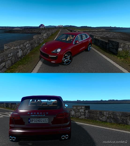 Porsche Cayenne Turbo S 2016 V4 [1.39] for Euro Truck Simulator 2