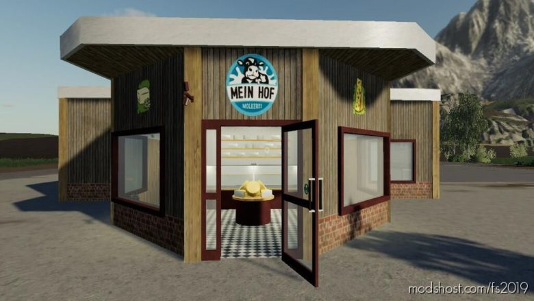 Dairy With Farm Shop for Farming Simulator 19