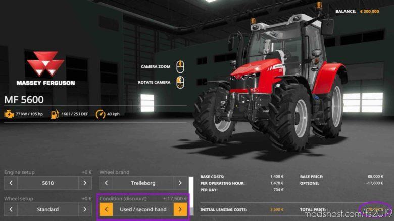 BUY Used Equipment V1.0.1.0 for Farming Simulator 19