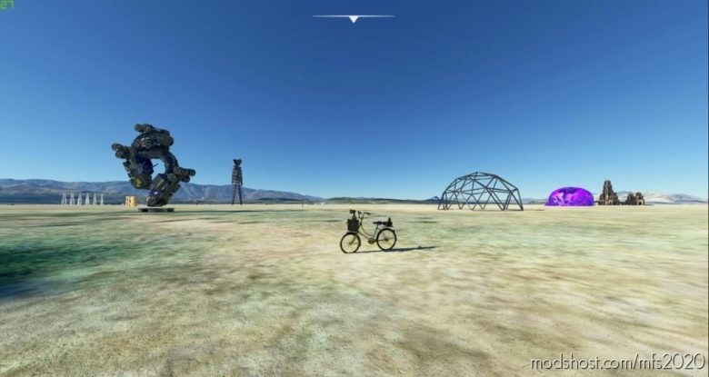 Black Rock City Bike for Microsoft Flight Simulator 2020