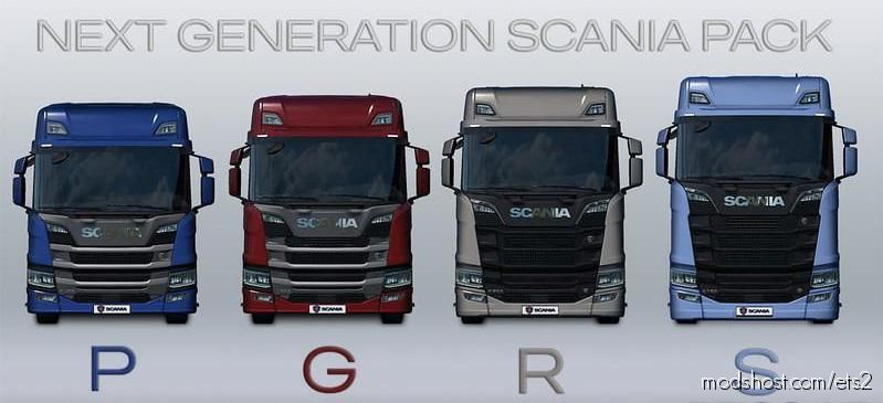 Nextgen Scania P, G, R, S Fmod & Open Window V2.3 for Euro Truck Simulator 2