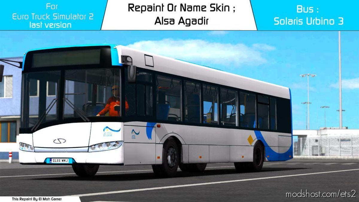 EL MOH Gamer – Alsa Agadir – Solaris Urbino 3 [1.39] for Euro Truck Simulator 2