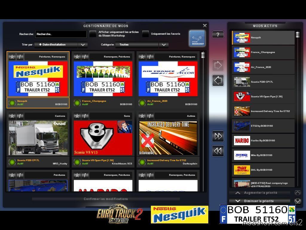 Skin Nesquik By BOB51160 for Euro Truck Simulator 2