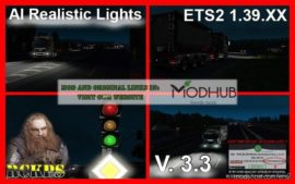 AI Realistic Lights V3.3 [1.39.X] for Euro Truck Simulator 2