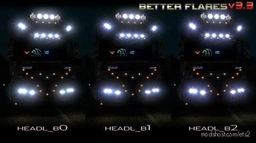 Better Flares 3.3B [1.39] for Euro Truck Simulator 2