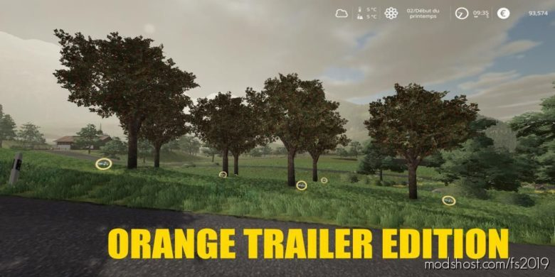 Orange Mod Trailer Edition V1.1 for Farming Simulator 19