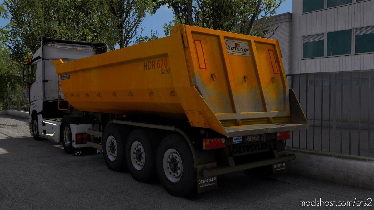 Oztreyler Damper Trailer FIX [1.39] for Euro Truck Simulator 2