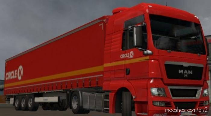 Circle K SkinPack (Krone Profiliner + MAN TGX) for Euro Truck Simulator 2