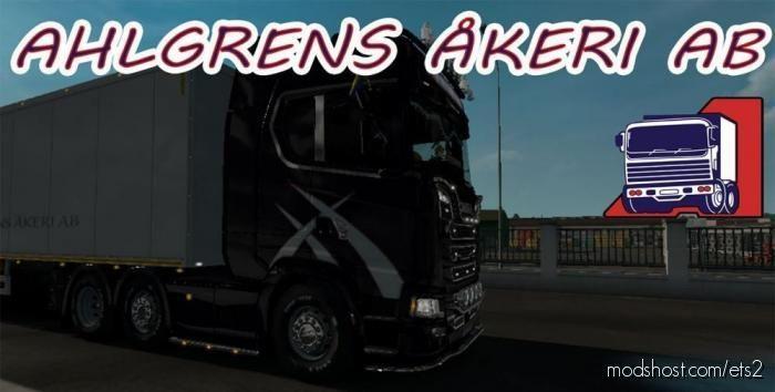 Ahlgren´s Truck + Trailer Skin + Lightbox for Euro Truck Simulator 2