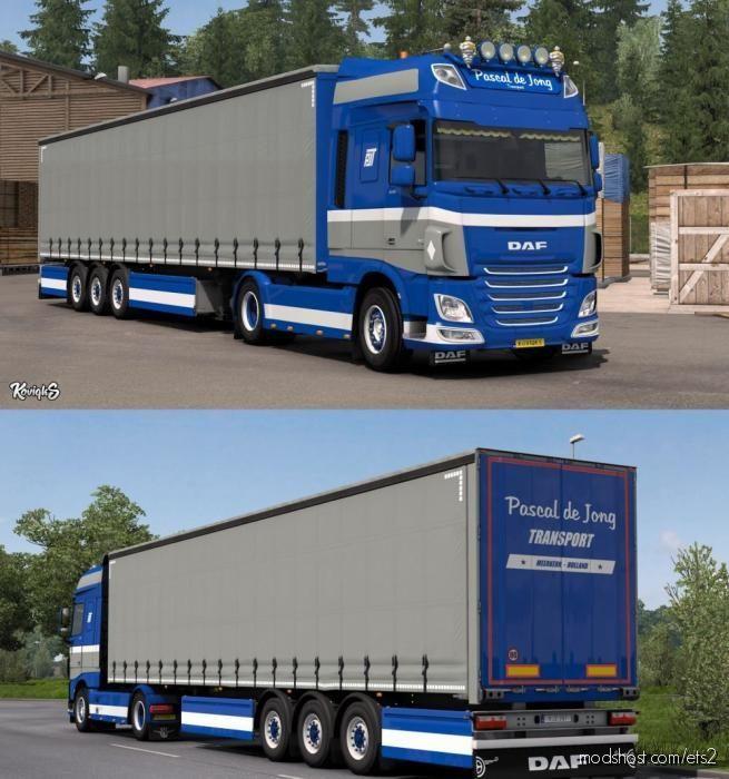 DAF XF Euro 6 Pascal DE Jong Skin Pack for Euro Truck Simulator 2