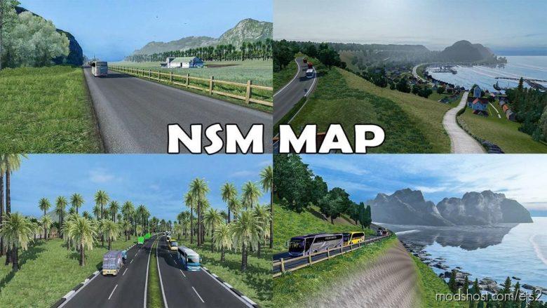 Rework Map NSM V1.4 By Gabriel Petra [1.39] for Euro Truck Simulator 2