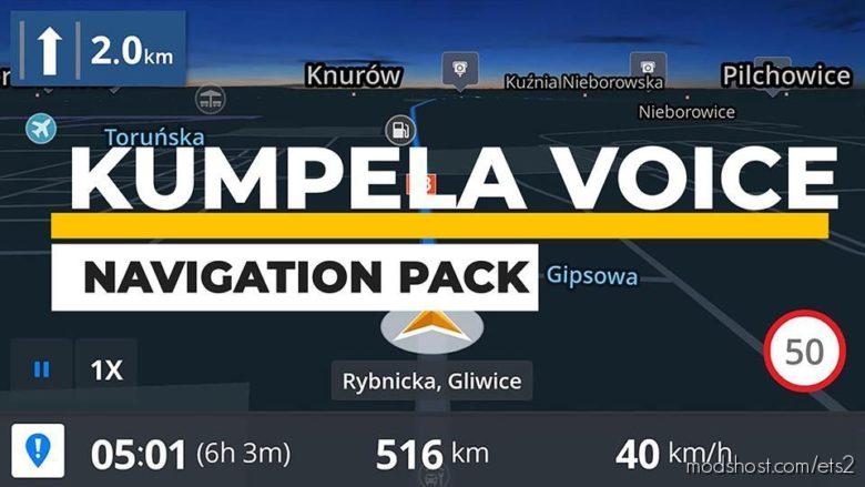 Kumpela Voice Navigation Pack for Euro Truck Simulator 2