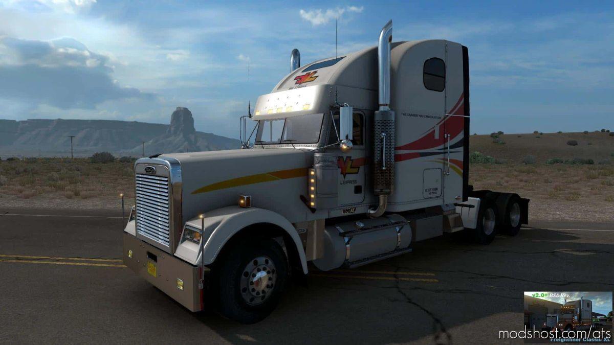 Freightliner Classic XL V2.0+ (BSA Revision) V1.39 V2.0 for American Truck Simulator