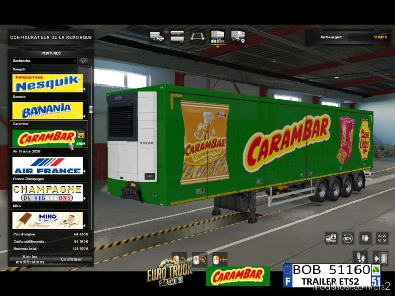 Skin Carambar V1.0.0.0 for Euro Truck Simulator 2