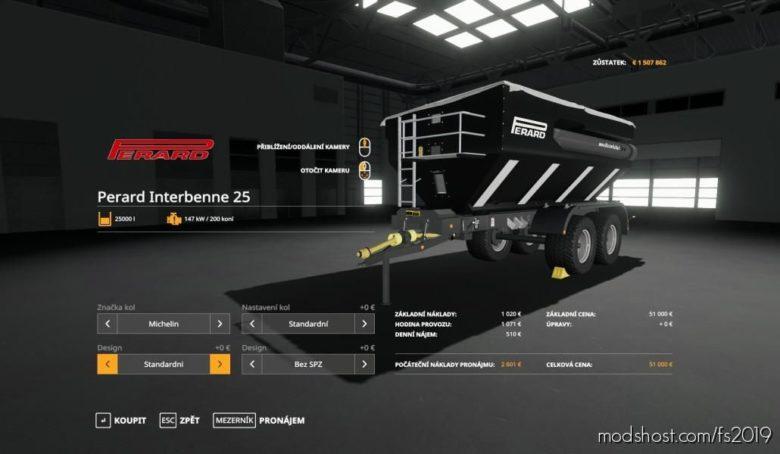 Perard Interbenne 25 V1.0.1.0 for Farming Simulator 19