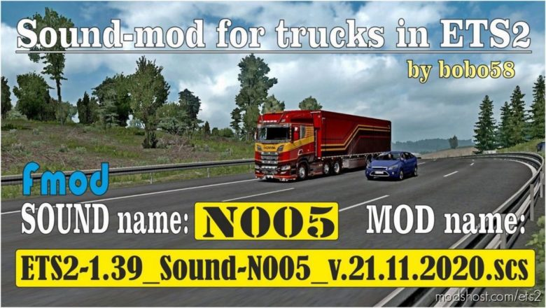Sound N005 [1.39] for Euro Truck Simulator 2