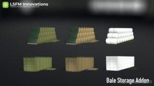 Lsfm Ballenlager Addon for Farming Simulator 19