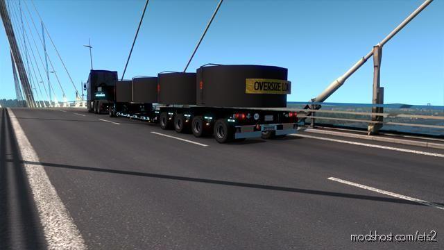 Goldhofer Black Trailer for Euro Truck Simulator 2