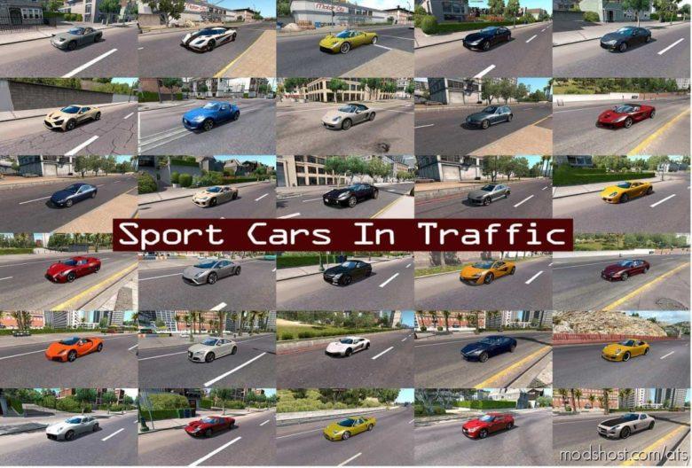 Sport Cars Traffic Pack By Trafficmaniac V7.5 for American Truck Simulator