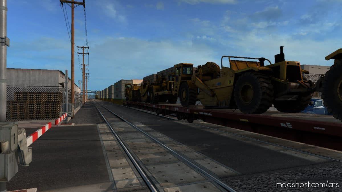 Long Trains Addon For Mod Improved Trains V3.6.4 for American Truck Simulator