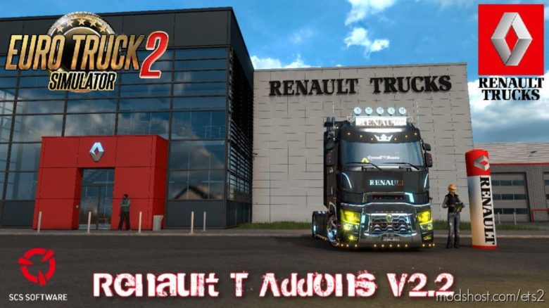 Renault T Addons V2.2 [1.39] for Euro Truck Simulator 2