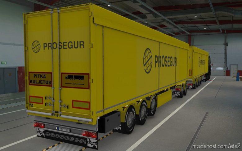 Skin Kraker Walkingfloor Prosegur [1.39] for Euro Truck Simulator 2