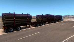 Arctic Logs Triple Trailers [1.39] for American Truck Simulator