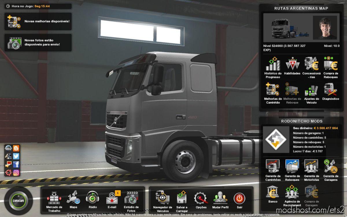 Profile Rutas Argentinas By Eljona 3D 2.0 V5 for Euro Truck Simulator 2