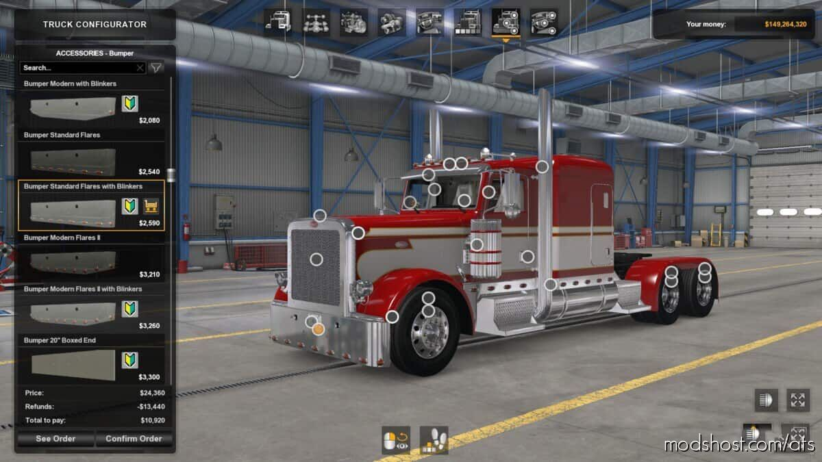 SCS Peterbilt 389 Accessories Pack for American Truck Simulator