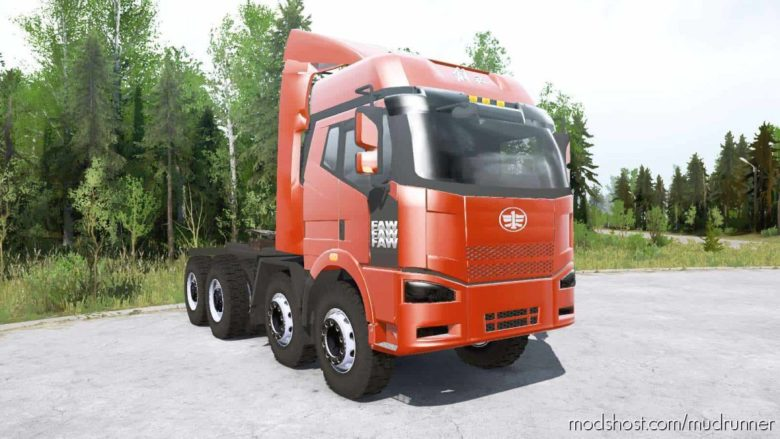 FAW Jiefang J6P 8×8 Truck for MudRunner