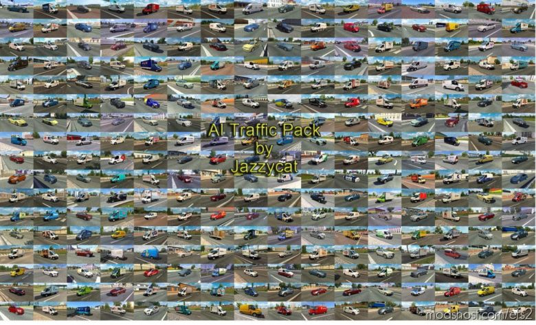 AI Traffic Pack By Jazzycat V14.0 for Euro Truck Simulator 2